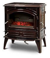 Чугунная печь на угля Dovre 640 GK/E6 коричневая майолика
