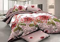 """Комплект постельного белья двуспальный евро """"Хрустальная роза""""."""