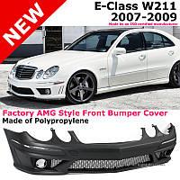 Передний бампер тюнинг обвес E63 AMG для Mercedes W211
