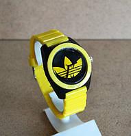 Спортивные часы Adidas, Адидас желтые с черным