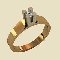 Экстравагантное золотое венчальное кольцо с грубым кастом