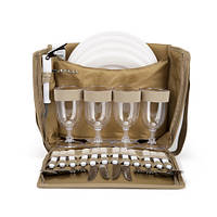 Набор посуды для пикника (пикниковый набор) Кемпинг СА 4-245