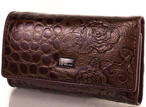 Женская карманная кожаная ключница-кошелек WANLIMA (ВАНЛИМА) W72091760066-10 Коричневый