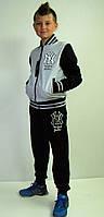 Детский спортивный костюм Бомбер серый