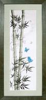 """Набор для вышивания крестиком Crystal Art """"Мотыльки в стеблях бамбука"""""""