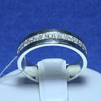 Широкое серебряное кольцо с ювелирными камнями 4701-б-р