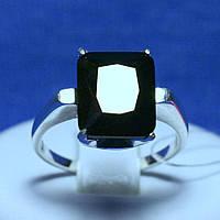 Стильное серебряное кольцо на палец с большим камнем 11047