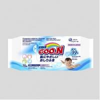 Влажные салфетки GOO.N для чувствительной кожи  (70 шт, увеличенные, в новой цветной пачке)