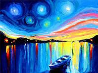 "Алмазная мозаика ""Лодка"", картина стразами 40*30см"
