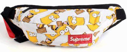 Веселая спортивная сумка на пояс Supreme 114, симпсоны