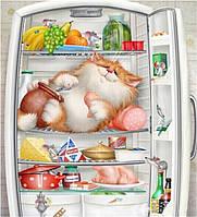 """Алмазная мозаика """"Кот в холодильнике"""", картина стразами 30*40см"""