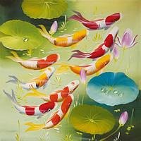 """Алмазная мозаика """"Рыбки"""", картина стразами 40*30см"""