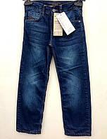 Брюки джинсовые для мальчиков подростковые, утепленные флисом Сэм