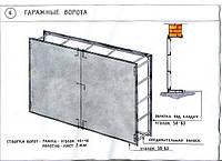 Ворота распашные металлические своими руками для гаража