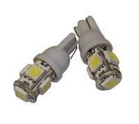 Лампочка светодиодная  12v t10 w5w  5smd 5050