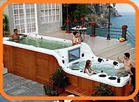 Бесконечный плавательный бассейн + роскошное джакузи... -  DOUBLE DECKER SPA
