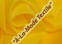 Шифон (вуаль) однотонный ярко-желтый  в. 300 см