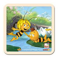 Пазл Пчелка Майя, 4 дет. Деревянные развивающие игрушки