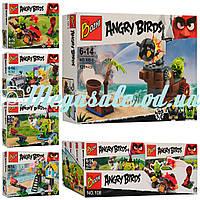 Конструктор Angry Birds/Энгри бердс, 5 видов: 2 фигурки + катапульта