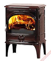 Чугунная мульти печь Dovre 425 GM/E6 коричневая майолика