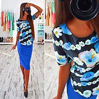 Женская блузка с принтом из вискозы и дайвинга