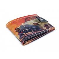 """Удобный компактный кошелек """"Авто на оранжевом фоне"""""""