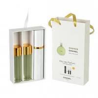 Подарочный парфюмерный набор с феромонами Chanel Chance eau Fraiche (Шанель Шанс эу Фреш) 3x15 мл