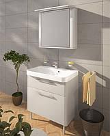 Мебли для ванной комнаты от производителя Буль-буль модель Devon 80 (шкафчик с умывальником, зеркальный шкаф)