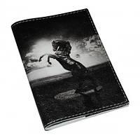 Кожаная мужская обложка для паспорта -Ферари-