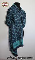 Стильный синий шарф Gucci
