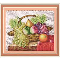 Набор для вышивания крестиком Корзина с фруктами Идейка