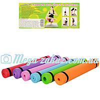 Коврик для фитнеса/йога мат (гимнастический коврик) EVA: 173х60см, толщина 3.5мм