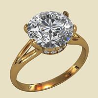 Милое и модное золотое кольцо 585* пробы
