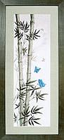 Набор для вышивания крестиком Crystal Art Мотыльки в стеблях бамбука