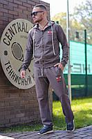 Мужской стильный спортивный костюм с капюшоном (2 цвета)
