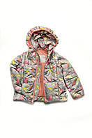 """Куртка-жилетка """"Зонтики"""" для девочки 1-4 лет, демисезонная"""