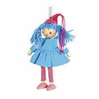 Фигурка на пружине Девочка Деревянные развивающие игрушки
