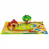 Деревянная железная дорога Деревянные развивающие игрушки