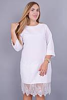 Ния. Красивое платье больших размеров. Белый., фото 1
