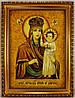 Икона Божией Матери в деревянной раме