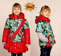 Детская куртка- жилетка для девочки .Осень 2016