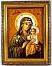 Икона Божией Матери  насыщенного цвета
