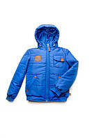 Куртка для мальчика 4-8 лет, демисезонная (синий)