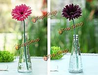 Прозрачное стекло ваза с деревянной крышкой бутылки ваза для резки цветов домашнего декора украшения