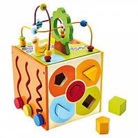 Куб, моторика многофункциональный Деревянные развивающие игрушки