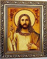 Икона Иисус Христос с элементами декора