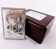 Икона Пресвятой Девы Марии в деревянной шкатулке, фото 1