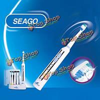 Индуктивная зарядка ультразвуковая электрическая зубная щетка с УФ стерилизатором