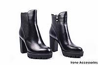 Ботильоны женские кожаные Lady Marcia (ботинки на тракторной платформе, байка c 35р)