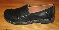 Туфли женские на толстой подошве черные модель НТ6